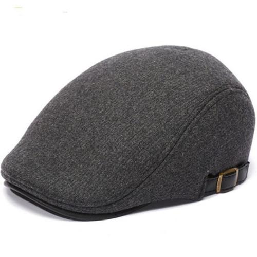 Winter Thicken Warm Woolen Beret Hat Adjustable Hat