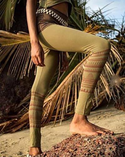 Tribal Leggings Extra Long Leggings Pants