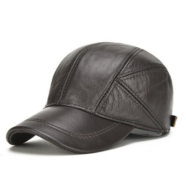 Winter Baseball Caps With Ear Flaps Warm Trucker Adjustable Hats