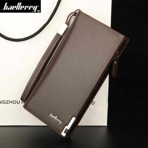 PU Leather Wallet Casual Business Multi-functional Zipper Clutch Bag