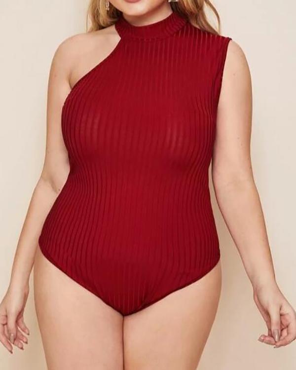 One-shoulder Strap Bodysuit Romper