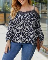 Casual Sexy Sling Off-shoulder Floral Top