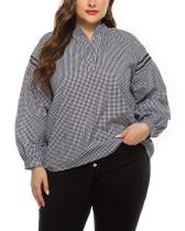 Casual Outfit Plaid Shirt Blouse