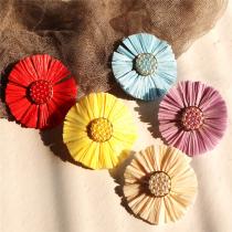 Women's Sweet Colorful  Flower Earrings
