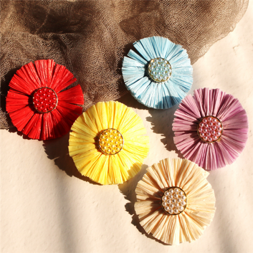 Women's Sweet Colorful  Flower Earrings