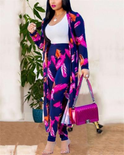 Plus Size Clothing Two Set Print Dress Clothes