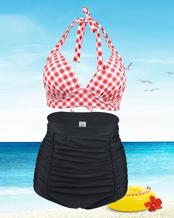 High Waist Strap Bikini