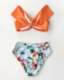 Floral Twist High Waist Bikini Set