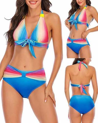 Gradient Sexy Slim Bikini Swimsuit