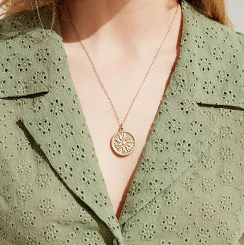 Women's Vintage Sun Pattern Necklace