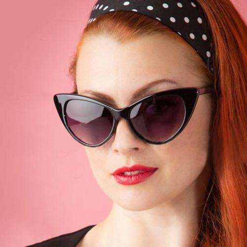 Sunglasses - Retro Cat Eye Glasses