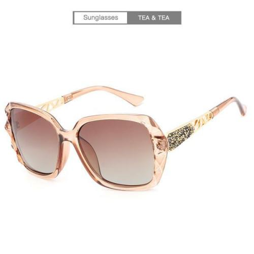PC Frame Women Polarized Fashion Vintage Sunglasses With Box
