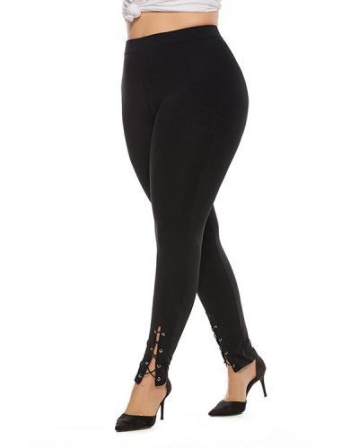 Plus Size Stretch Split Casual Pants