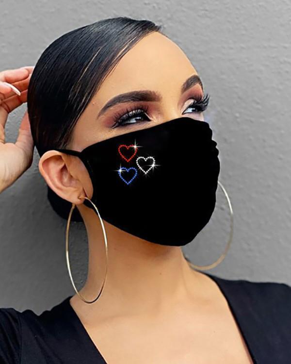 Studded Bling Rhinestone Face Mask