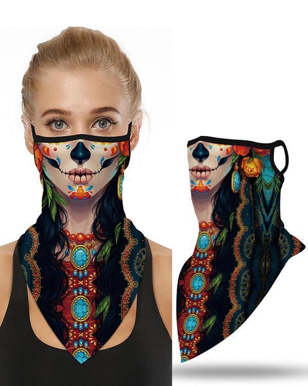 Skull Pattern Breathable Earmuffs Face Mask