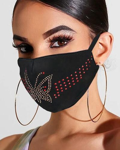 Studded Ear Loop Breathable Mouth Mask Reusable
