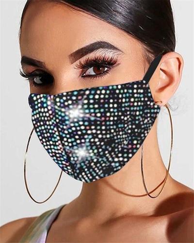 Bling Flash Rhinestone Face Mask