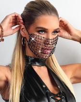 Hollow Out Breathable Bling Rhinestone Face Mask