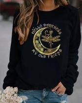 My Old Friend Pullover Round Neckline Sweatshirts
