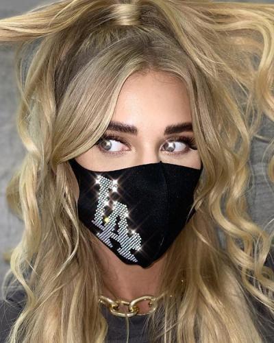 Rhinestone Flash Diamond Face Mask