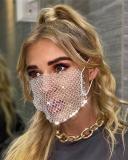 Flash Diamond Fishing Net Rhinestone Face Mask