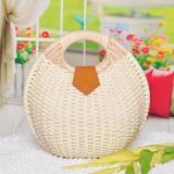 Ladies Sweet Lovely ShellL Shape Tote Bag Beach Straw Handbag