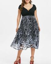 Plus Size Printed Sexy Dress