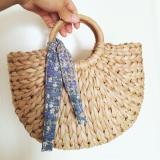 Half Moon Straw Beach Bag