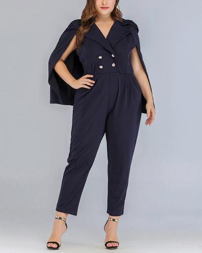 Plus Size Cloak Fashion Jumpsuit