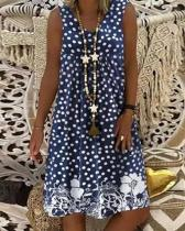 Casual Polks Dot V-Neckline Shift Dress