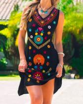 Holiday Sleeveless Floral Dresses