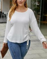 Plus Size Loose Simple Pleated Sweater