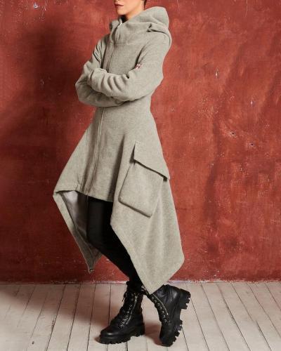 Fashion Longs Women Windbreaker Wram Plush Coat For Women
