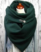 Women Green Scarf Shawl Multi-purpose Neck Wrap Warm Scarf