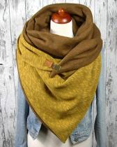 Women Solid Color Scarf Shawl Wrap Multi-purpose Neck Wrap Yellow Scarf