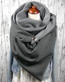 Women Solid Color Scarf Shawl Wrap Multi-purpose Neck Wrap Scarf