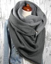 Women Solid Color Scarf Shawl Wrap Multi-purpose Neck Wrap Scarf