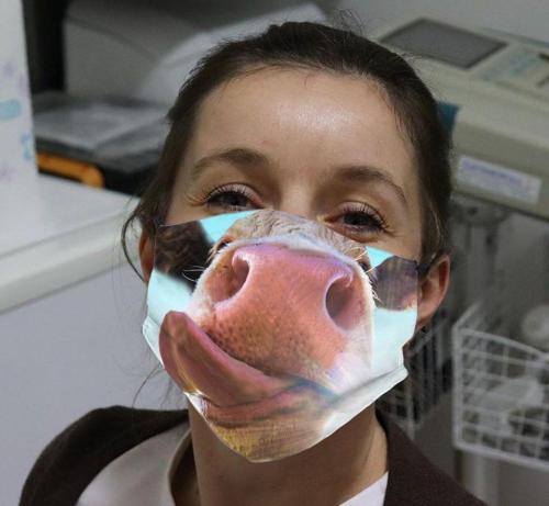 Funny Animal Printed Cotton Mask