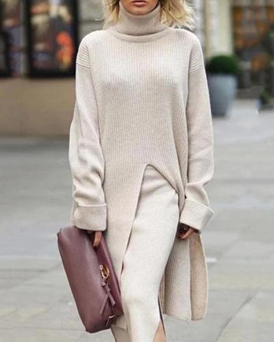 Casual Long Sleeve Turtleneck Sweater