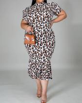 Sexy Leopard Print Ladies Dress
