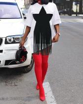Lovely Casual Pentagram Ankle Length Plus Size Dress
