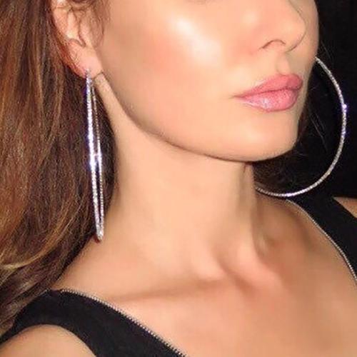 Oversized Shiny Delicate Hoop Earrings