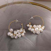 S925 Silver Needle Pearl Stud Earrings