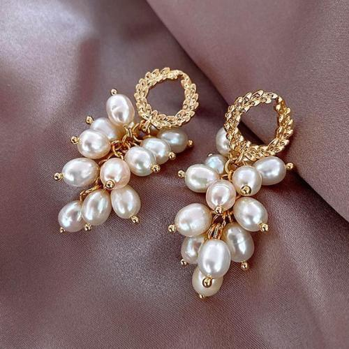 S925 Silver Needle Pearl Stud Earrings