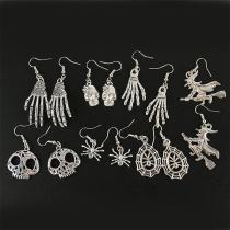 Halloween Feature Alloy Drop Earrings