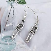 Vintage Earrings For Women Halloween Goth Earings Punk Jewelry Skeleton Skull Dangle Drop Earring