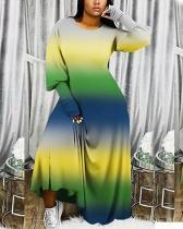Plus Size Fashion Casual Plaid Dress