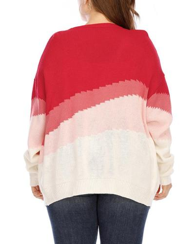 Plus Size Ombre Open Front Cardigan
