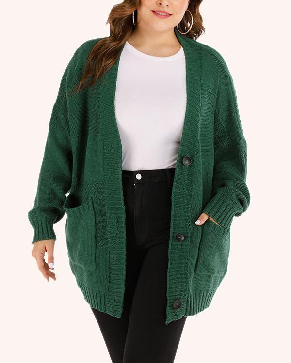 Single-breasted Stylish Knitted Sweater Cardigan Coat
