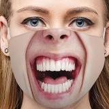 Funny Face Expression Breathable Cotton Face Mask